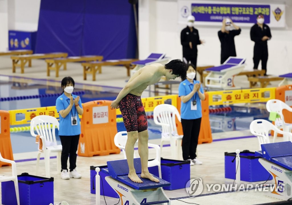 황선우, 자유형 100m서 또 한국신기록…생애 첫 올림픽 출전(종합)