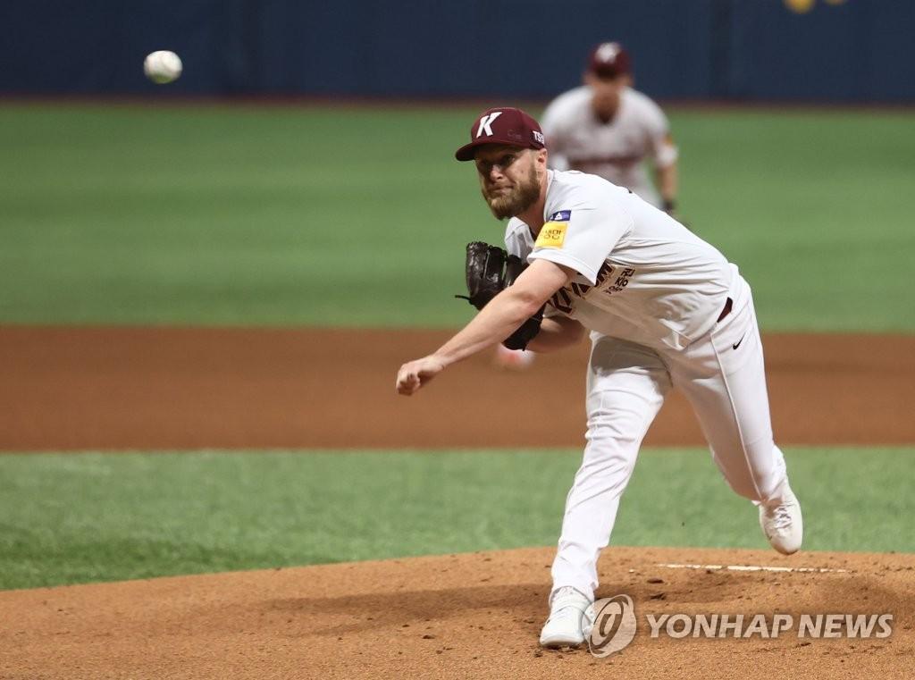 키움, 한화에 완승…요키시 7이닝 무실점-박동원 연타석 홈런
