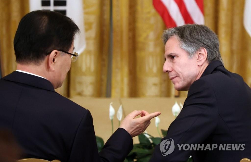 """정의용, 백신스와프 미포함에 """"미, 한국만 지원 명분 약해 입장"""""""
