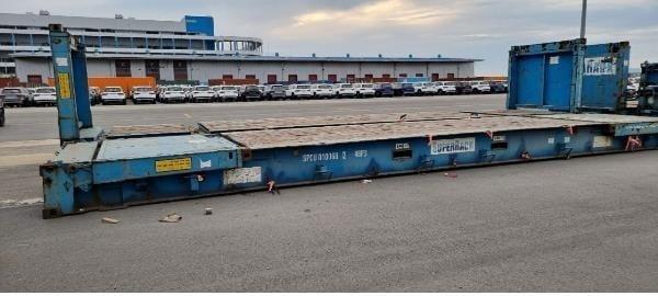 지난달 고 이선호씨가 적재 작업을 하다가 사망한 평택항 컨테이너. / 사진=연합뉴스