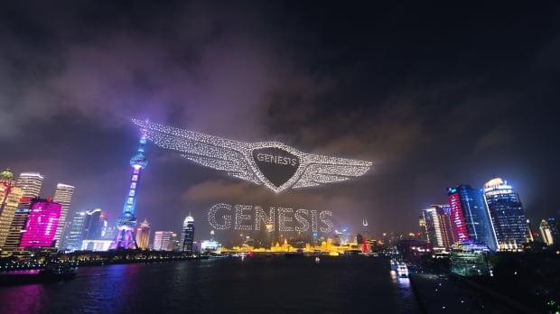 현대자동차의 프리미엄 브랜드 제네시스가 지난달 2일 중국 상하이 국제 크루즈 터미널에서 '제네시스 브랜드 나이트'를 열고, 중국 고급차 시장을 겨냥한 브랜드 론칭을 공식화했다./ 사진=뉴스1