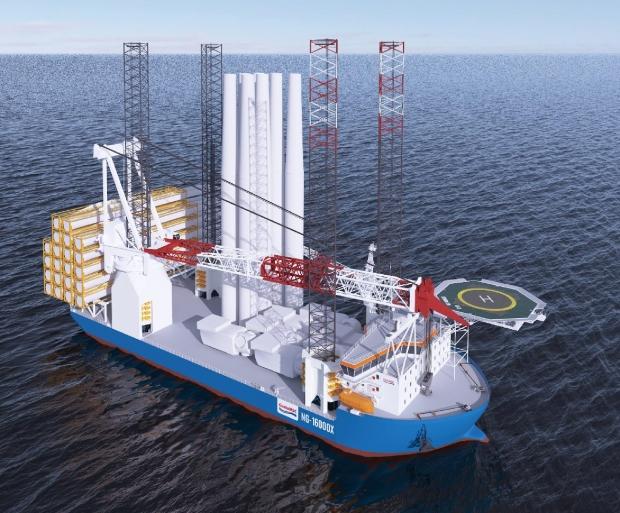 대우조선해양, 3,700억원 규모 대형 해상풍력발전기 설치선 1척 수주