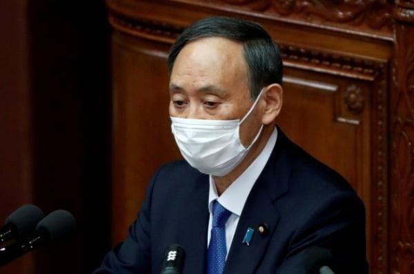 스가 일본 총리/사진=연합뉴스