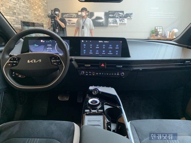 EV6 GT라인 실내./ 사진=신현아 기자