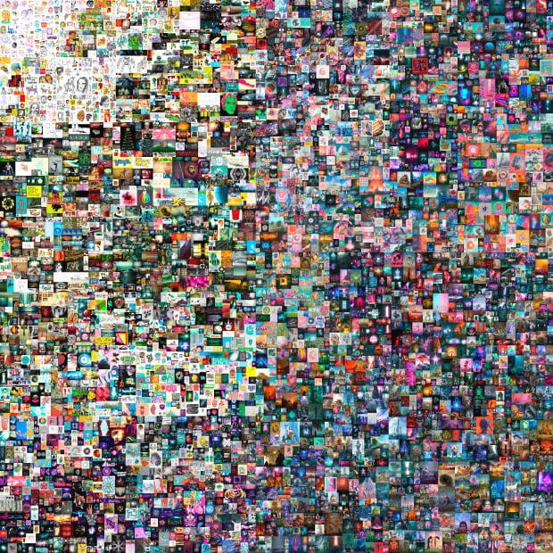 올 3월 경매 시장에서 784억원에 판매된 디지털 화가 비플(Beeple)의 NFT(대체 불가능 토큰) 그림파일 작품 '매일 : 첫 5000일'.