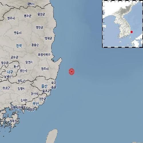 14일 오후 10시42분17초께 경북 포항시 남구에서 규모 2.4의 지진이 발생했다. /사진=기상청 제공