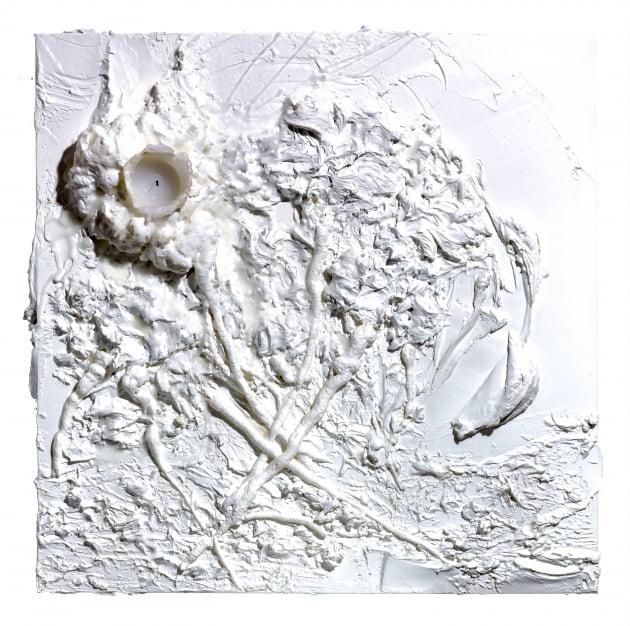 Flower from Heaven, mixed media on canvas, speaker, 50.0☓50.0☓10.5(d)cm, 2021/사진=엠에이피크루