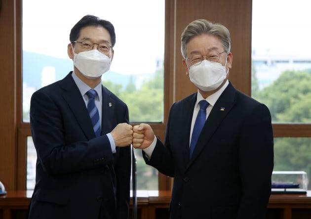이재명-김경수 회동, 수도권과 비수도권 상생발전 위해 협력하기로