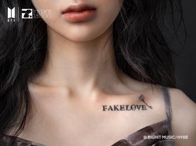 방탄소년단 '피 땀 눈물', 'FAKE LOVE' 타투 출시된다