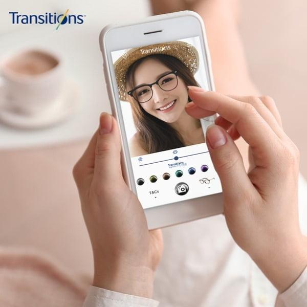 에실로코리아의 '변색렌즈 트랜지션스 가상 체험(Virtual Try-On)'