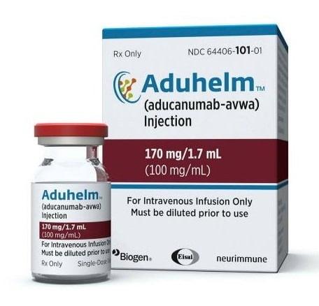 미국에서 최초로 승인된 알츠하이머병 치료제 아두카누맙. 제공=셀리버리