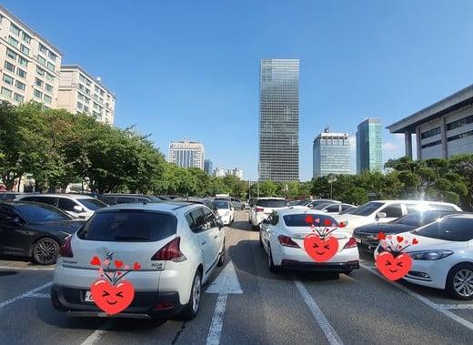 김원효, 이중주차 차량들에 분노 /사진=인스타그램