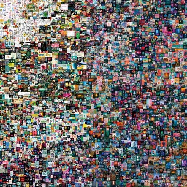 세계적 미술품 경매 장터인 크리스티 경매에서 지난 3월 6934만 달러(약 780억 원)에 팔린 . 블록체인 기반의  NFT가 적용된 디지털 아트다.