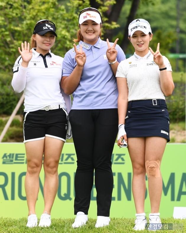 [포토] 김지영2-유해란-박현경, '카메라 앞에서 수줍은 미소~'