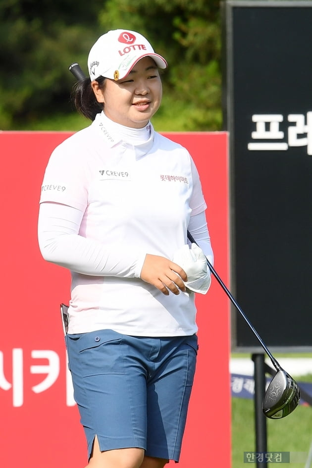 [BC카드·한경 레이디스컵 2021] 하민송, '여유있는 미소'