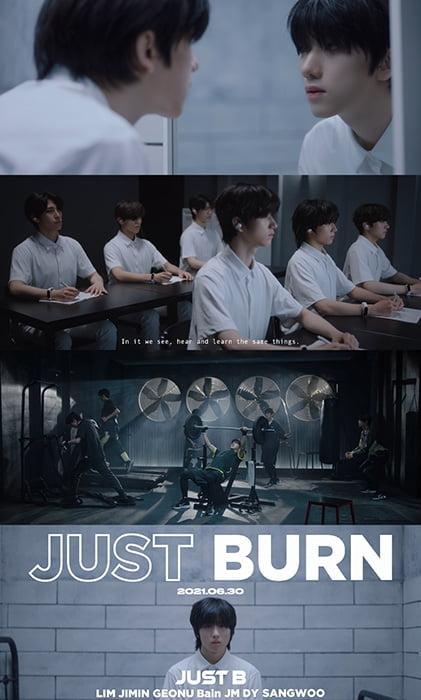 新보이그룹 JUST B, `JUST BURN` 트레일러 영상 공개…본격 프로모션 돌입