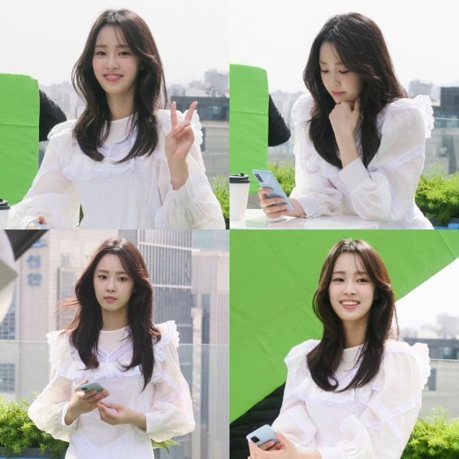 최예빈, '청순+청량' 봄 햇살 같은 화사한 미모 자랑