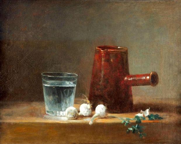 장 바티스트 시메옹 샤르댕, 물잔과 커피포트, 1761년, 카네기 미술관 소장.