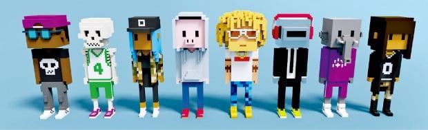 NFT(대체 불가능 토큰) 제작사 라바랩스가 올 5월 출시한 3차원 캐릭터 미비츠(Meebits). '미비츠 #10761'이란 한 캐릭터는 지난달 14일 267만달러(약 30억원)에 팔렸다.  라바랩스 제공