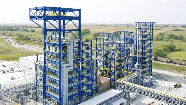 SK㈜가 지분 투자한 청록수소 생산 업체 모놀리스의 미국 네브래스카 공장.  SK제공