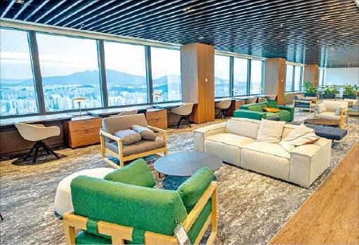 한화자산운용의 특급호텔처럼 꾸민 직원 휴식공간. /각사 제공