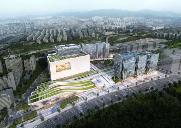 한화건설이 수주한 수서역 환승센터 복합개발 프로젝트 조감도. 출처: 한화건설