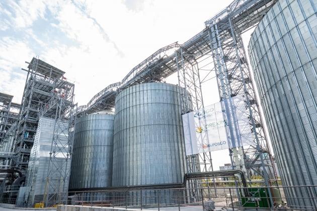 (사진) 포스코인터내셔널의 우크라이나 곡물 수출 터미널. /포스코인터내셔널 제공