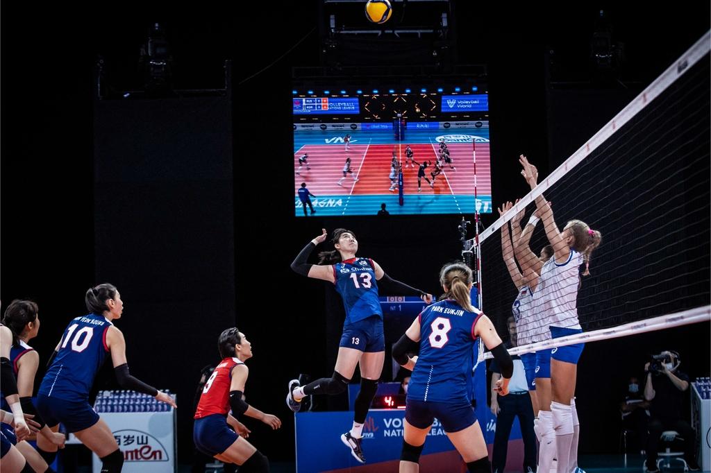 여자배구대표팀, 러시아에 0-3 완패…8연패 수렁