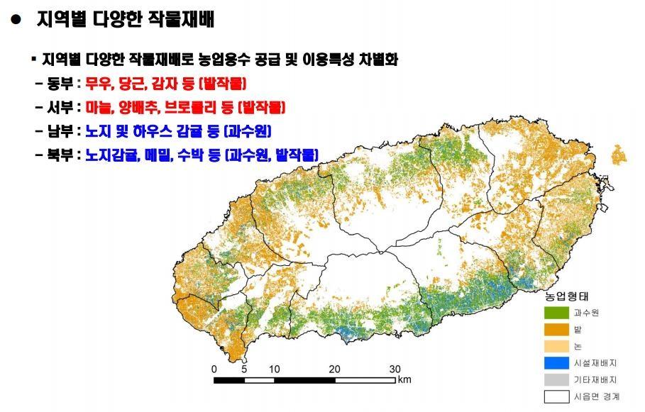 펑펑 쓰는 제주 농업용수…지하수 의존도 낮춰야