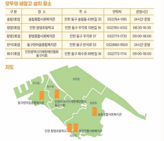 '먹거리 나눔' 인천 동구, 공유 냉장고 5곳 신설