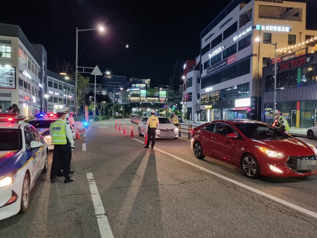 경기북부경찰, 야간 음주운전 단속으로 9명 적발