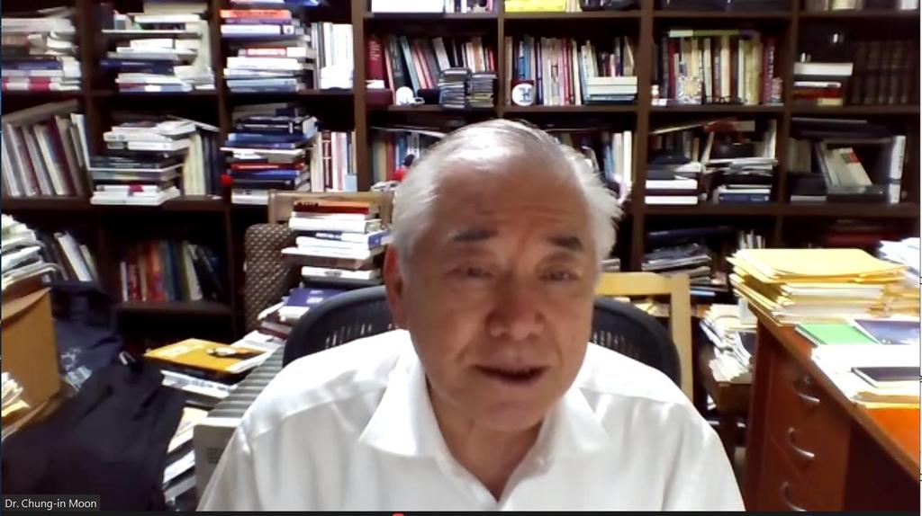 """문정인 """"북한의 대화 복귀 위해 한미연합훈련 문제 해결해야"""""""