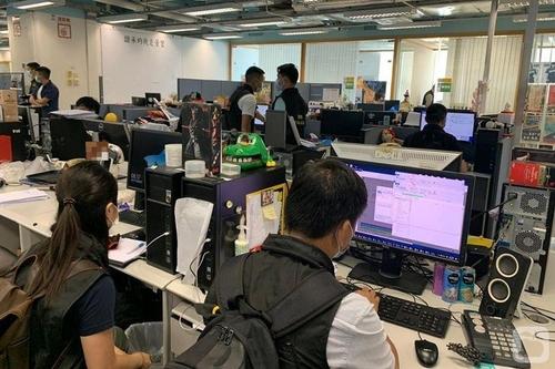 홍콩경찰, 반중매체 빈과일보 급습·자산 26억원 동결(종합2보)