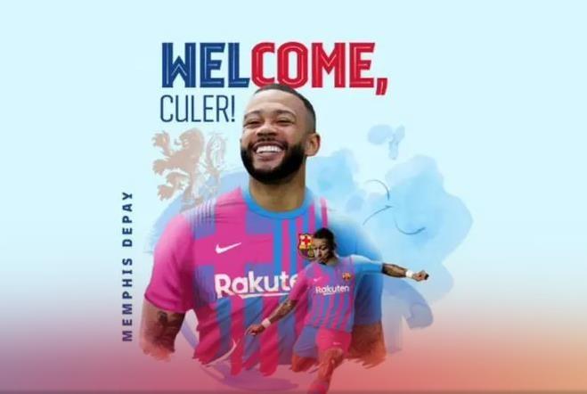 네덜란드 대표팀 공격수 데파이, 바르셀로나와 '2년 계약'