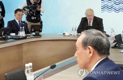 """""""스가 총리, G7 정상회의 때 가장 경계한 것은 문대통령"""""""