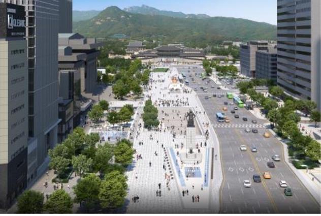 """서울시 """"광화문광장 내년 4월 개장…월대 복원은 2023년"""""""