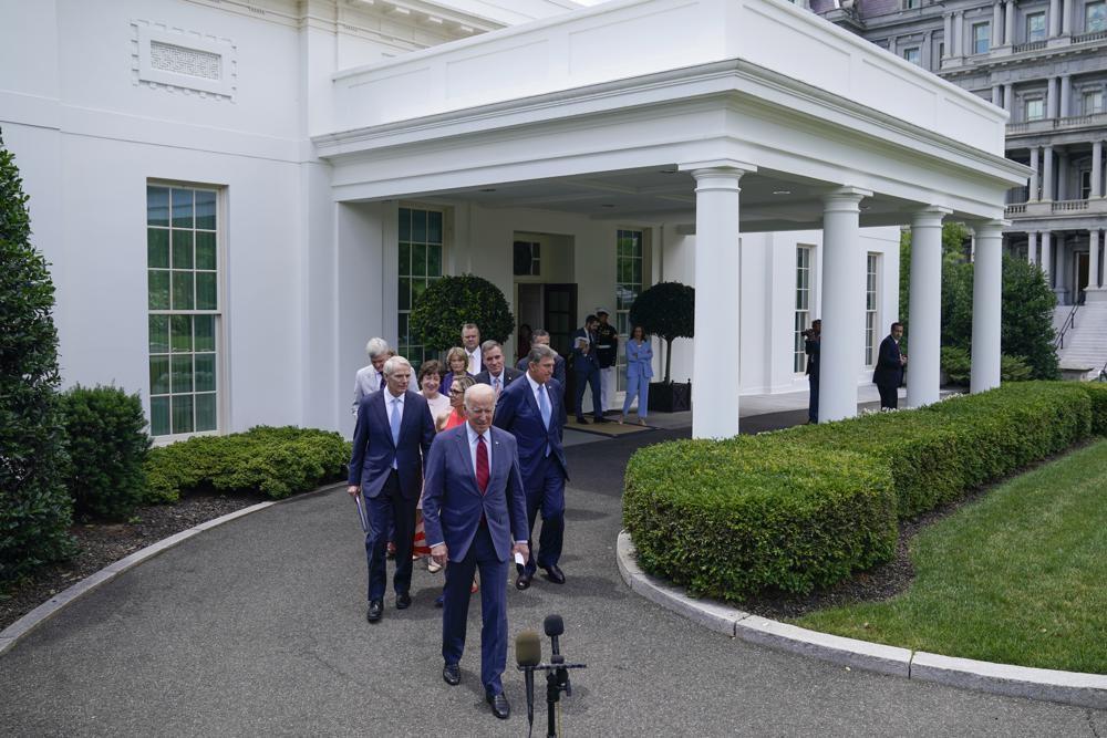 """바이든, 인프라 예산 협상타결 선언…""""초당적 합의"""" 부각"""