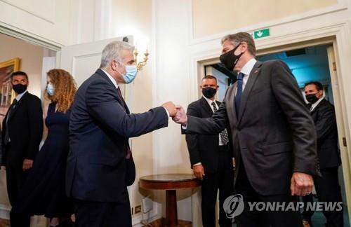 """블링컨 만난 이스라엘 외무 """"이란 핵협상에 심각한 우려""""(종합)"""