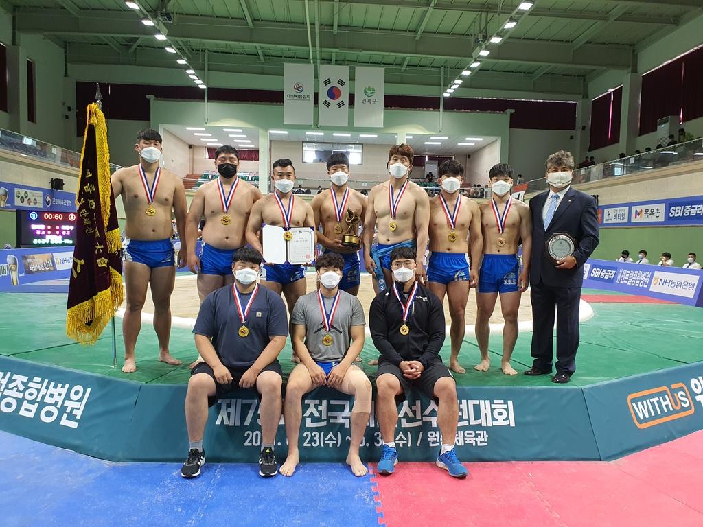 영월군청, 전국씨름선수권대회서 시즌 첫 단체전 우승