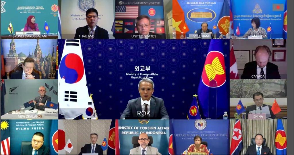 ARF 화상회의서 한반도·남중국해 문제 등 논의…북한도 참여