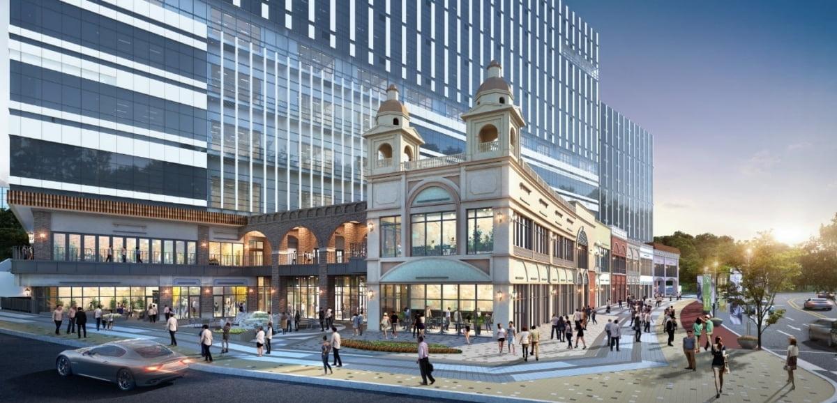 현대 테라타워 구리갈매 상업시설, 특화·차별화 외관 설계 `롬스트리트` 선보여