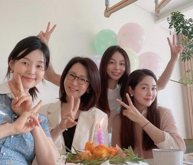 배우 한지혜, 전인화, 장마리아, 성유리./ 사진=인스타그램