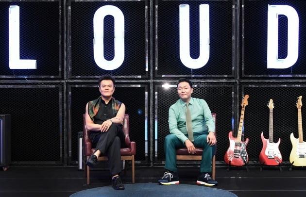 '라우드' 박진영(왼쪽), 싸이/ 사진=SBS 제공