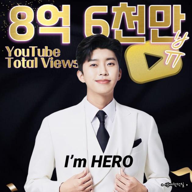 임영웅, 유튜브 누적 조회수 8억 6000만 돌파…'10억도 문제 없다'