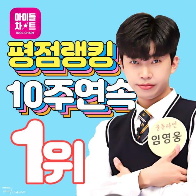 임영웅, 아이돌차트 평점랭킹 10주 연속 1위 '히어로 클래스'