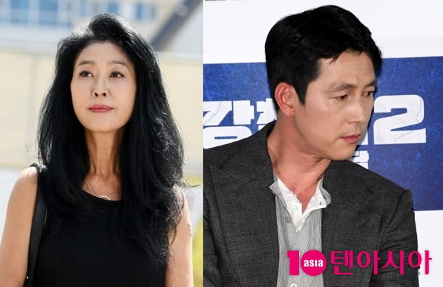 배우 김부선-정우성./ 사진=텐아시아DB