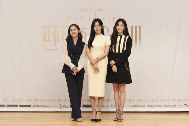 '펜트하우스3' 유진 김소연 이지아/ 사진=SBS 제공