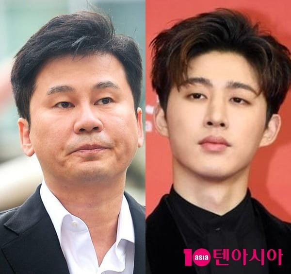 YG 양현석 전 대표(왼쪽)과 비아이 /사진= 텐아시아 사진DB