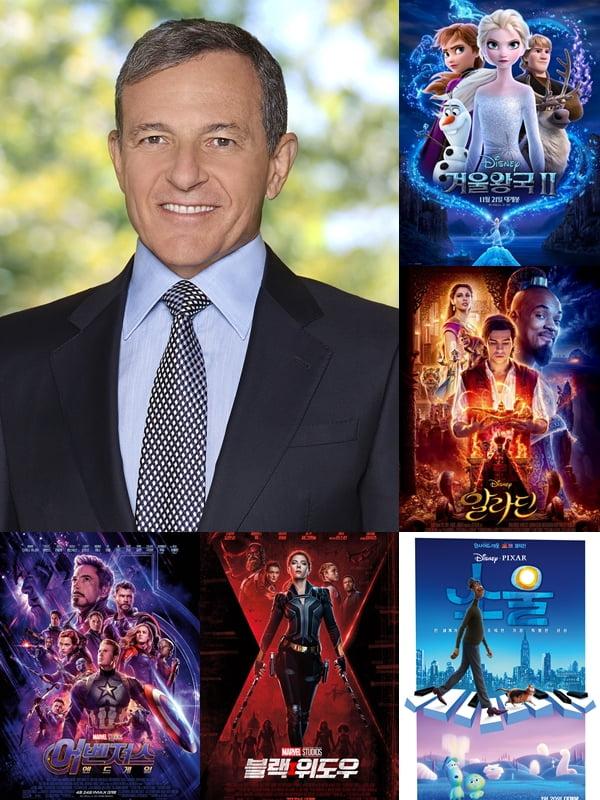 로버트 앨런 아이거 월트 디즈니 컴퍼니 회장, 디즈니 영화들./ 사진제공=월트 디즈니 컴퍼니 공식 홈페이지