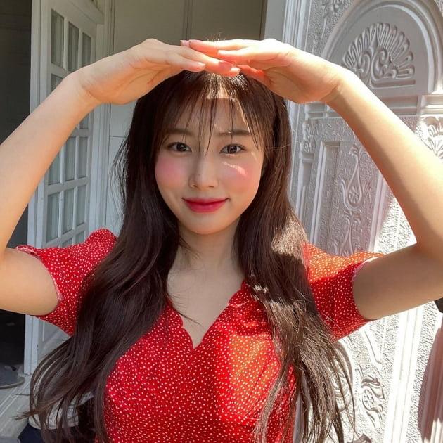 아이즈원 강혜원, 청순의 의인화…발그레한 볼 [TEN★]
